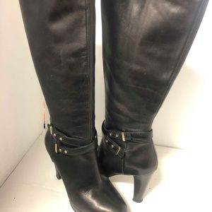 Cole Haan Shoes - Cole Haan Air Women's Black Leather Long Boots 5.5